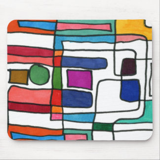 """""""City Map"""" Abstract Design Mousepad"""