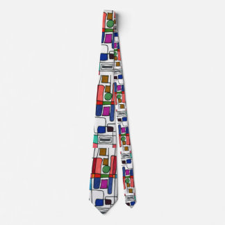 """City Map"" Abstract Design Tie"