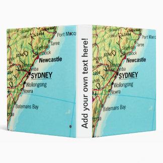 City Map of Sydney in Australia Binder