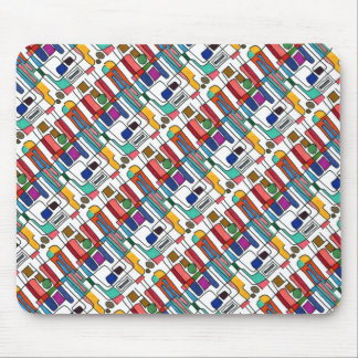 """""""City Map"""" Tiled Abstract Design Mousepad"""