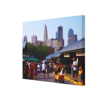 City Market and Downtown Kansas City Skyline Canvas Print