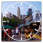 City Market and Downtown Kansas City Skyline Wall Clock