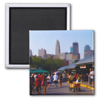 City Market and Downtown Kansas City Skyline Magnet