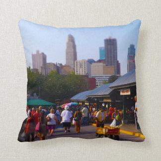 City Market and Downtown Kansas City Skyline Throw Pillows