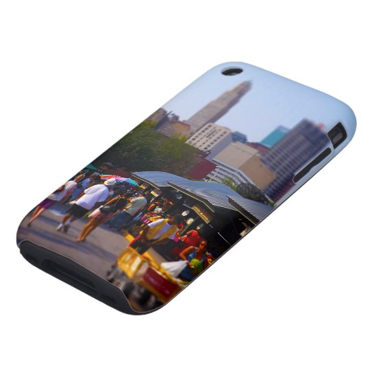City Market and Downtown Kansas City Skyline Tough iPhone 3 Case