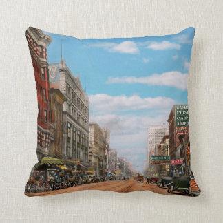 City - Memphis TN - Main Street Mall 1909 Throw Pillow