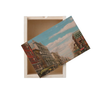 City - Memphis TN - Main Street Mall 1909 Wooden Keepsake Box