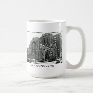 City Methodist Chuch 1940s Gary IN Coffee Mugs
