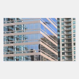 City Modern Architecture Rectangular Sticker