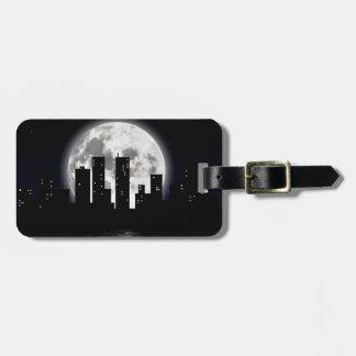 City Moon Luggage Tag