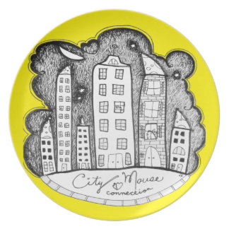 city mouse connection party plates