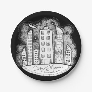 city mouse connection 7 inch paper plate