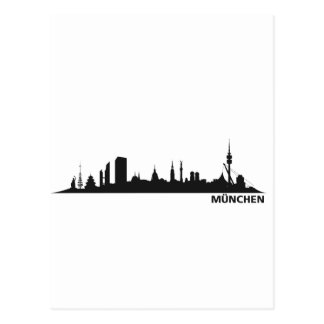 City Munich - skyline 1c Postcard