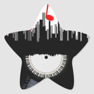 City Music Star Sticker