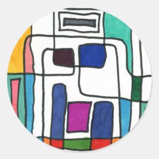 """City Nap"" Abstract Design Sticker"