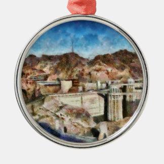 City - Nevada - Hoover Dam Metal Ornament