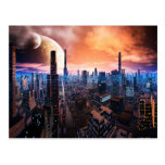 'City Never Sleeps' Postcard