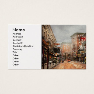 City - New Orleans - A look at St Charles Ave 1910 Business Card