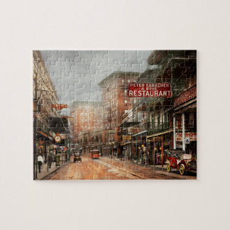 City - New Orleans - A look at St Charles Ave 1910 Jigsaw Puzzle