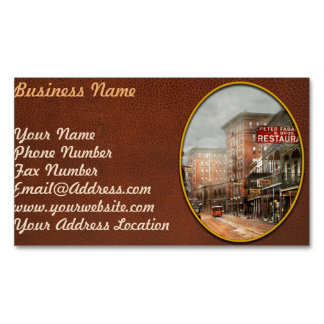 City - New Orleans - A look at St Charles Ave 1910 Magnetic Business Card