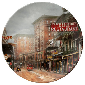 City - New Orleans - A look at St Charles Ave 1910 Plate