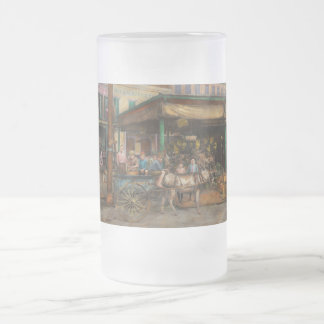 City - New Orleans LA - Frankie and the boys 1910 Frosted Glass Beer Mug