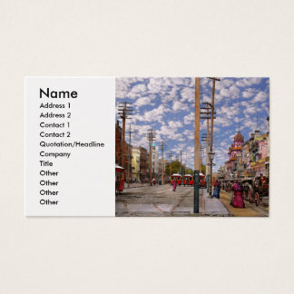 City - New Orleans the Victorian era 1887 Business Card
