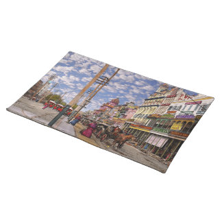 City - New Orleans the Victorian era 1887 Cloth Placemat