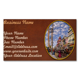 City - New Orleans the Victorian era 1887 Magnetic Business Card