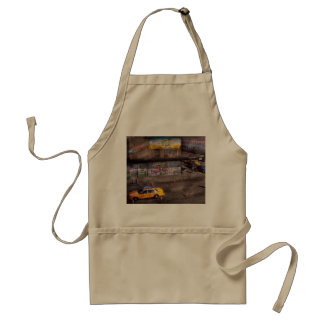 City - New York - Greenwich Village - Life's color Adult Apron