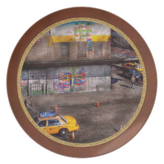 City - New York - Greenwich Village - Life's color Melamine Plate