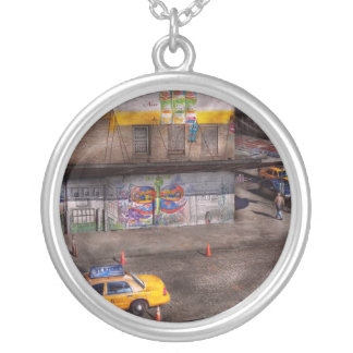 City - New York - Greenwich Village - Life's color Personalized Necklace