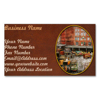 City - New York NY - Stuck in a rut 1920 Business Card Magnet