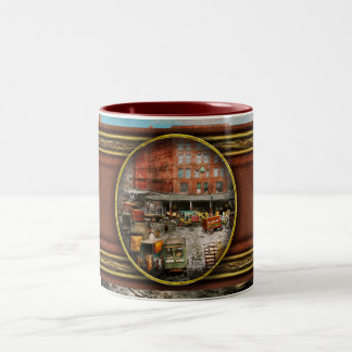 City - New York NY - Stuck in a rut 1920 Two-Tone Coffee Mug