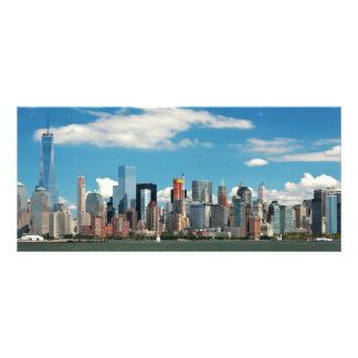 City - New York NY - The New York skyline Rack Card