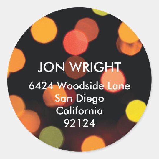 City night light multi color modern address label