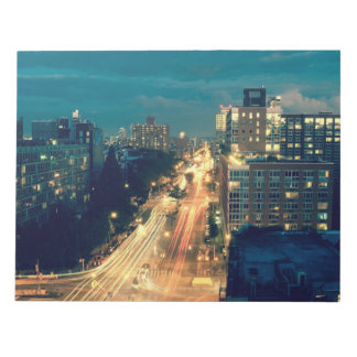 City night lights notepad