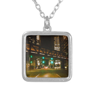 City Night Lights Silver Plated Necklace