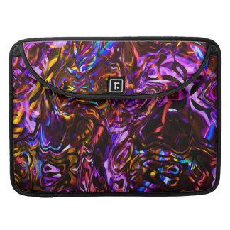 City Nights Abstract Black and Purple MacBook Pro Sleeve