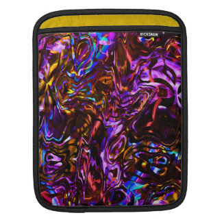 City Nights Abstract Black and Purple Sleeve For iPads