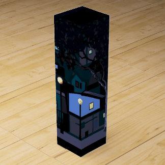 City nights wine bottle box