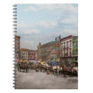 City - Norfolk Va - Hardware and Liquor - 1905 Spiral Notebook