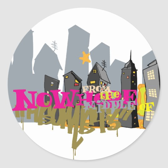 City Nowhere Classic Round Sticker