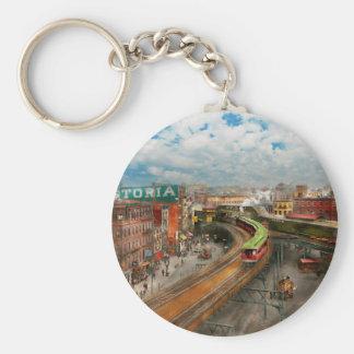City - NY - Chatham Square 1900 Keychain