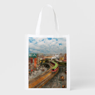 City - NY - Chatham Square 1900 Reusable Grocery Bag