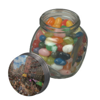 City - NY - Flavors of Italy 1900 Glass Candy Jar