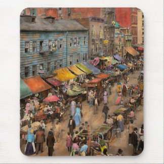 City - NY - Jewish market on the East Side 1890 Mouse Pad