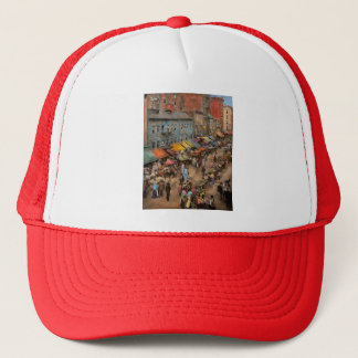 City - NY - Jewish market on the East Side 1890 Trucker Hat