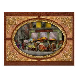 City - NY- Lunch carts on Broadway St NY - 1906 Postcard