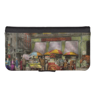 City - NY- Lunch carts on Broadway St NY - 1906 Wallet Phone Case For iPhone SE/5/5s